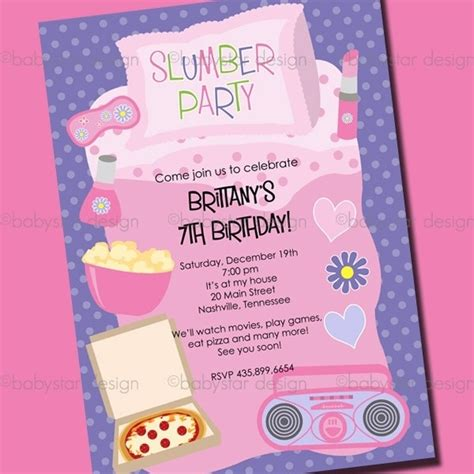 free printable sleepover invitation templates sleepover birthday invitations template resume builder