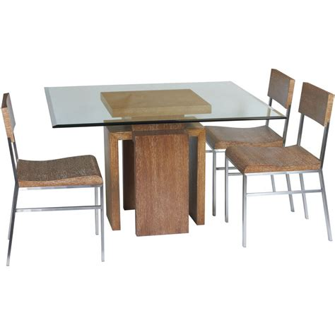 Dining Table 4 Chairs Glass Top Dining Table Set 4 Chairs Decor Ideasdecor Ideas