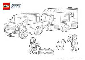 60117 van amp caravan colouring page lego 174 city
