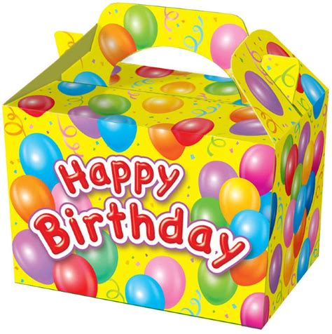 happy birthday box design 10 themed party boxes choose from 19 designs lunch