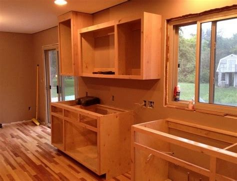 how to build lower kitchen cabinets build your own kitchen cabinets with plans by so here