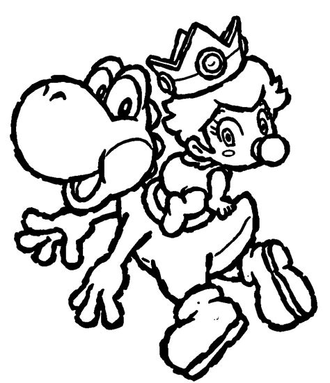 super mario coloring pages yoshi free coloring pages of mario yoshi