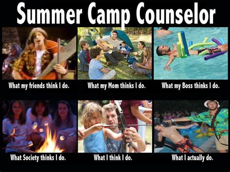 Funny Summer Memes - c counsellor what people think what i actually do