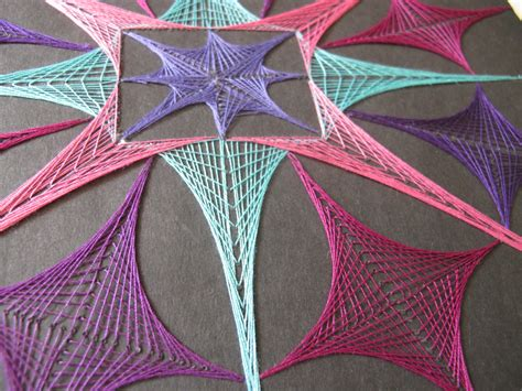 Geometric String Designs - geometric string yarn