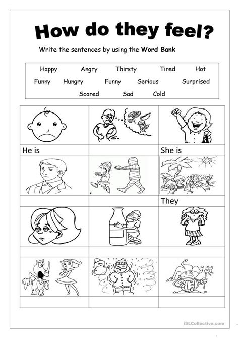 Feelings worksheet - Free ESL printable worksheets made by