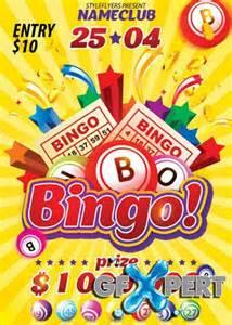 8 bingo flyers free psd ai eps format free