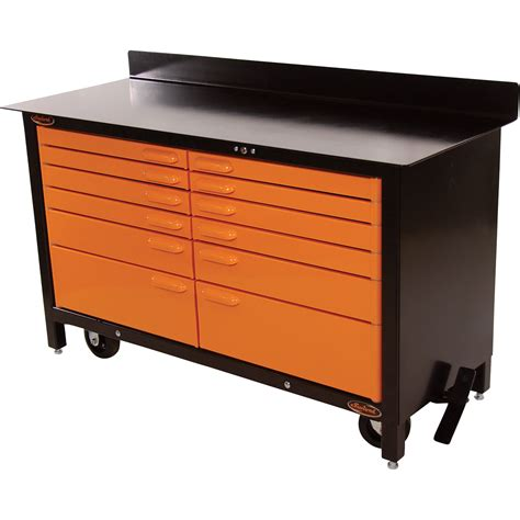 swivel storage solutions 60in movable workbench model