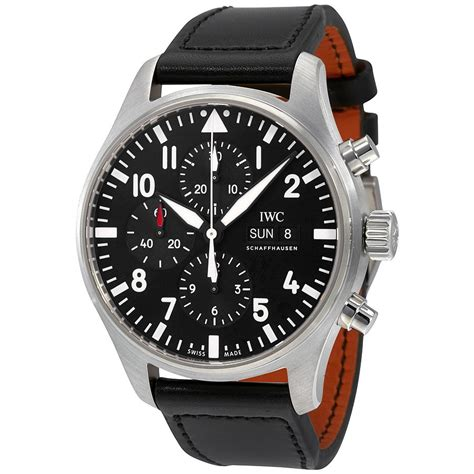 best iwc watches iwc pilot black automatic chronograph s iw377709