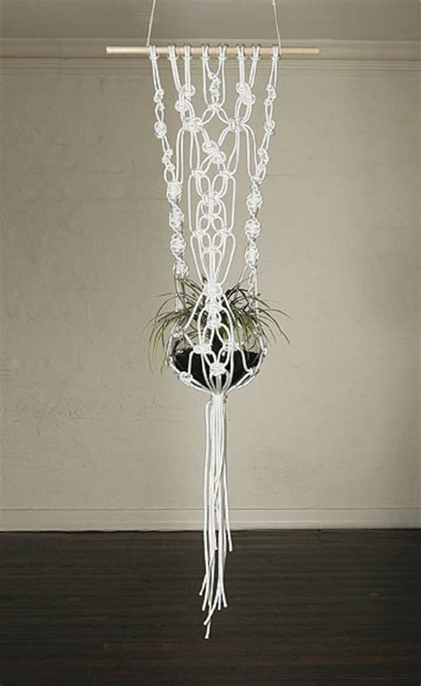 Macrame Plant - pin macrame patterns plant hanger with 2 tiers