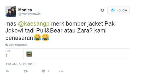 Harga Jaket Bomber Merk Zara netizen heboh tanyakan tempat beli bomber jacket jokowi