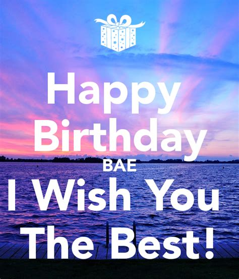 Happy Birthday Wish The Best For You Happy Birthday Bae I Wish You The Best Poster Asdf