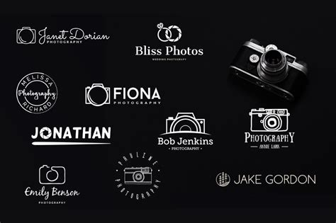 10 Free Photography Logo Templates Creativebooster Free Photography Logo Templates For Photoshop