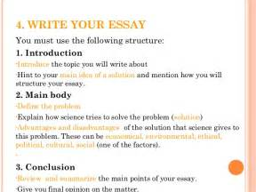 An Essay On How To Write An Essay by How To Write A Science Essay