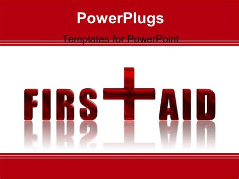 Powerpoint Template First Aid Reflected 3d Text Over White Background 12348 Aid Powerpoint Template