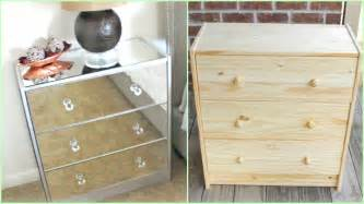 diy mirrored nightstands ikea hack