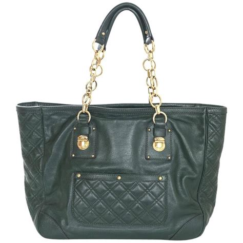 Pre Fall 07 Marc Patchwork Bowler Handbag by Marc Green Leather Quilted Tote Bag For Sale At 1stdibs