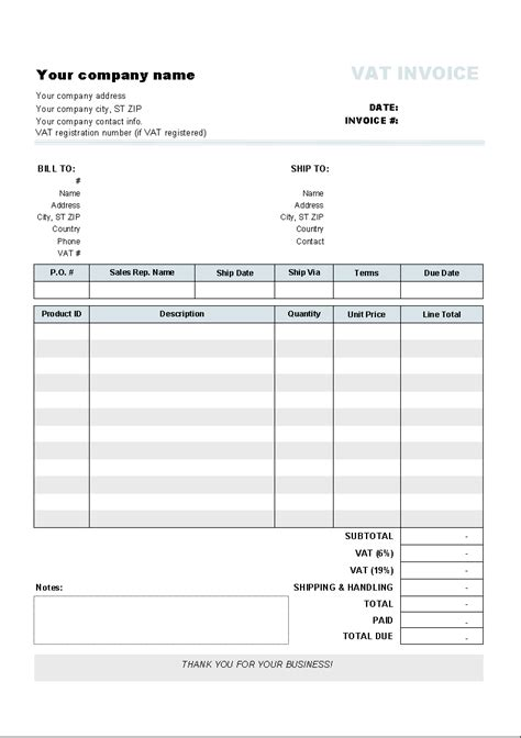 Freeware Download: Wordpad Invoice Template