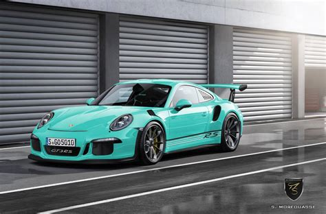 porsche mint green 2016 porsche 911 gt3 rs imagined in multiple colors gtspirit