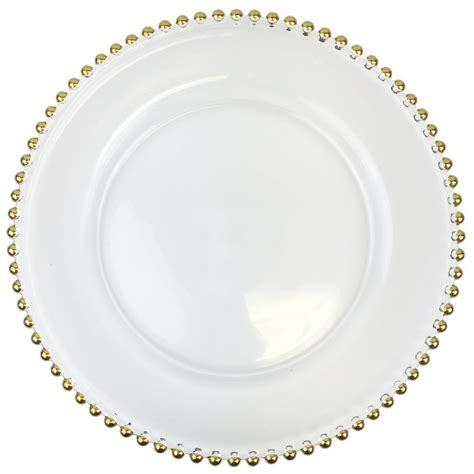 gold beaded glass charger plates glass gold beaded charger plate 12 5 quot
