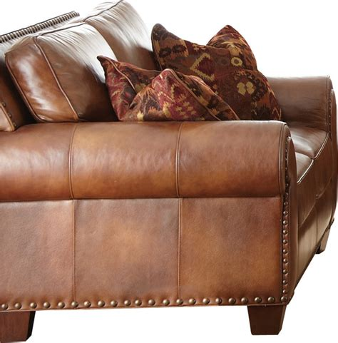 steve silver silverado sofa steve silver silverado loveseat in caramel brown leather