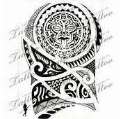 Maori Polynesian Tattoo Design Elbow