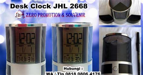 Jam Digital Dinding Dan Meja Multifungsi jual jam meja promosi pen holder desk clock jhl 2668