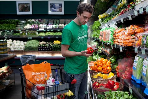 grocery deliveries in sharing economy the new york times