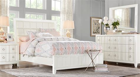 lane bedroom sets olivia lane white 7 pc king upholstered bedroom king
