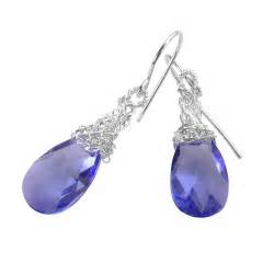 Swarovski Earrings amethyst earrings silver dangle swarovski