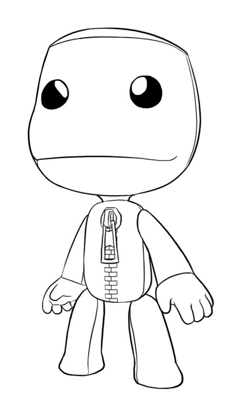 little big planet free coloring pages