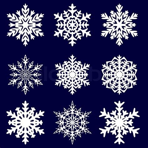 decorative snowflake vector illustration stock vector