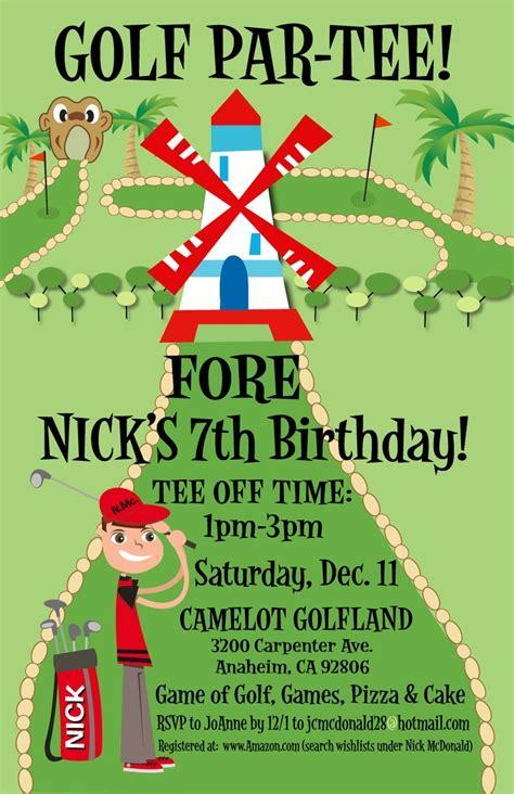 golf birthday card template golf themed birthday invitations ideas bagvania free