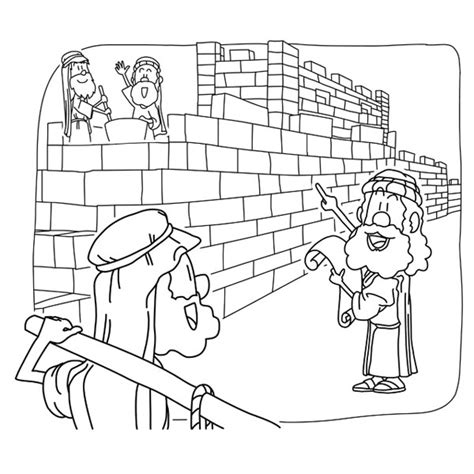 coloring pages wall art christian cliparts net nehemiah rebuilt the jerusalem s