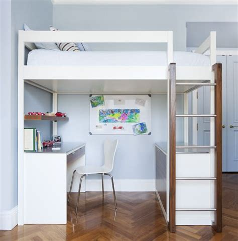 white loft bed with desk and dresser loft bunk bed modern design in white desk credenza
