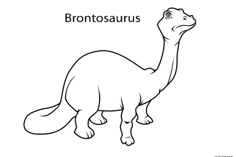 dinosaur coloring pages preschool brontosaurus dinosaur coloring pages for kindergartenfree