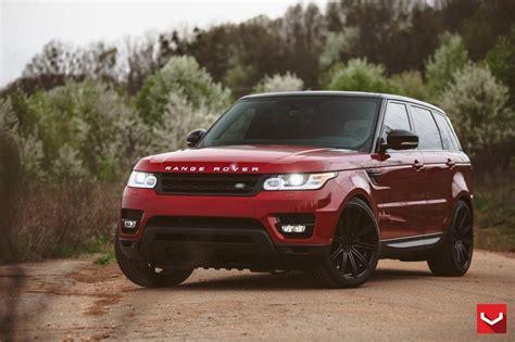 burgundy range rover black rims 20 quot staggered vossen wheels cv4 matte graphite rims vss005 2