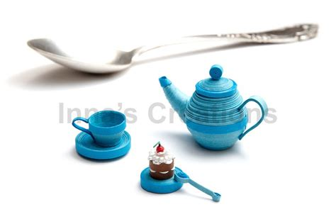 quilling miniatures tutorial inna s creations miniature 3d quilled tea set