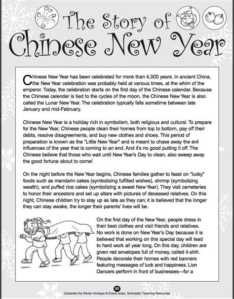 new year zodiac story printable one stop january shop every resource you need scholastic
