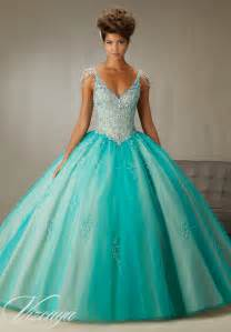 Crystal Ball Chandelier Crystal Sleeves Quinceanera Dress Style 89065 Morilee