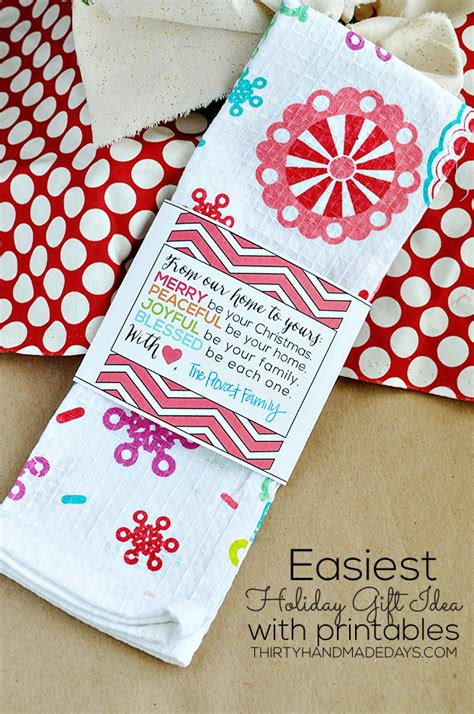 Thirty Handmade Days - easy gift ideas for