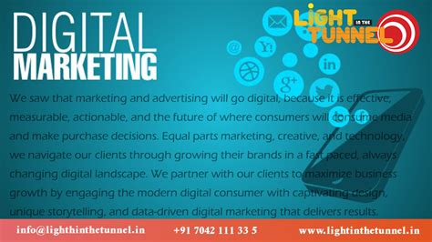 Digital Marketing In light in the tunnel digital marketing
