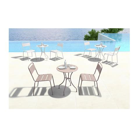 modern round outdoor dining table octavio taupe round modern outdoor dining table eurway