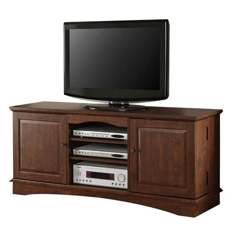 tv woodwork 60 quot brown wood tv stand console