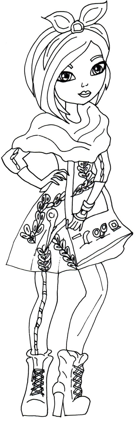 ever after high coloring pages blondie locks blondie locks ever after high coloring pages