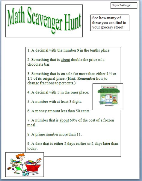 Scavenger Hunt Worksheet by Treasure Hunt Math Worksheet Lesupercoin Printables
