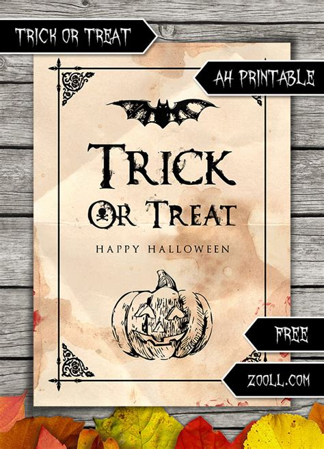 a4 printable halloween pictures trick or treat halloween a4 printable by mysticemma on