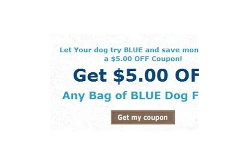 coupons blue wilderness dog food