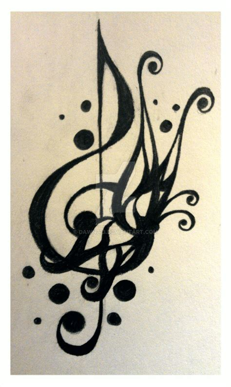 treble clef tattoo designs design treble clef 2 by dawn773 on deviantart