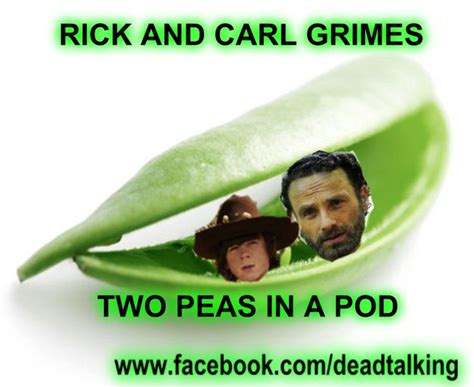 Two Peas In A Pod Meme - 123 best images about rick carl grimes humor on