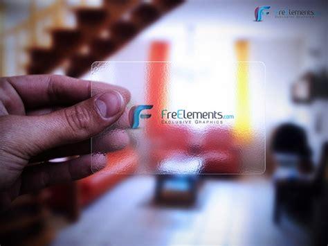 Transparent Business Card Template Psd